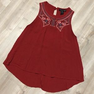 ⚡️5 for 25⚡️ Living Doll Embroidered Boho Tank